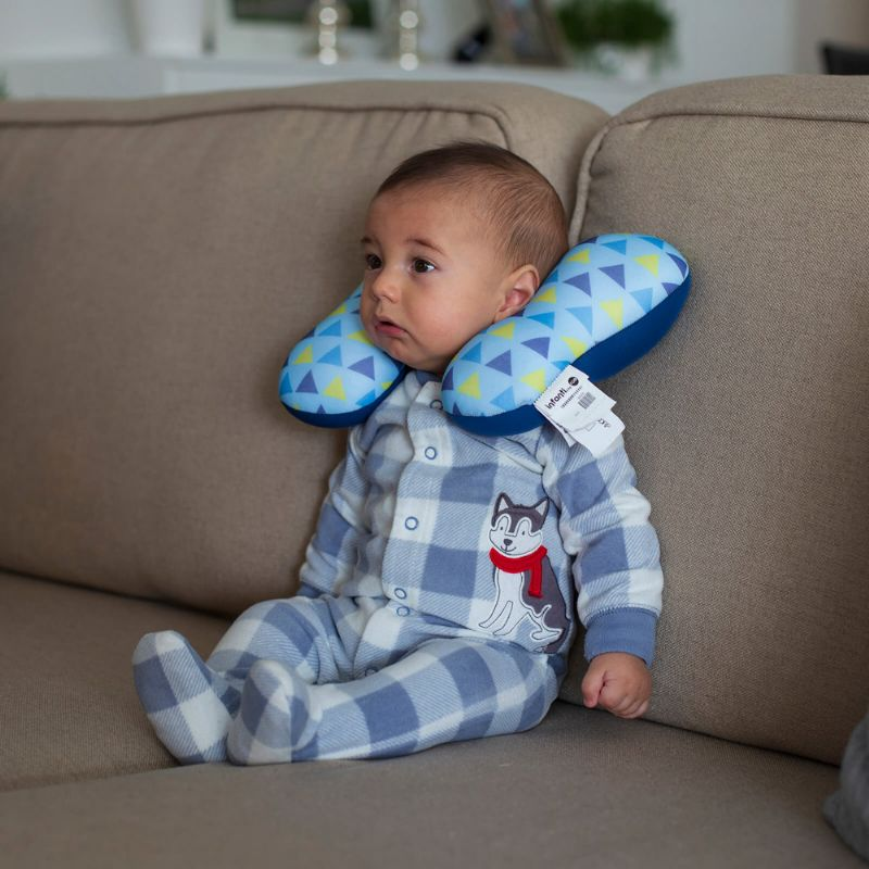 Almofada Infantil para Pescoço by FOM - Azul Triângulo - Infanti