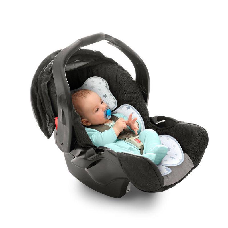 Almofada Redutora para Bebê Conforto Cinza - Clingo