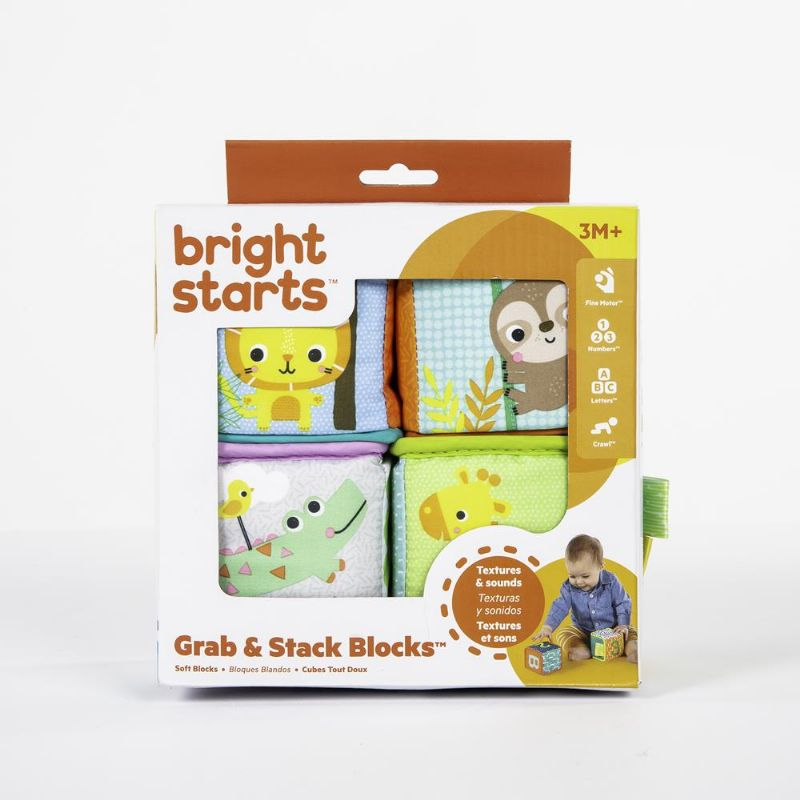 Blocos Macios Grab e Stack Blocks - Bright Starts