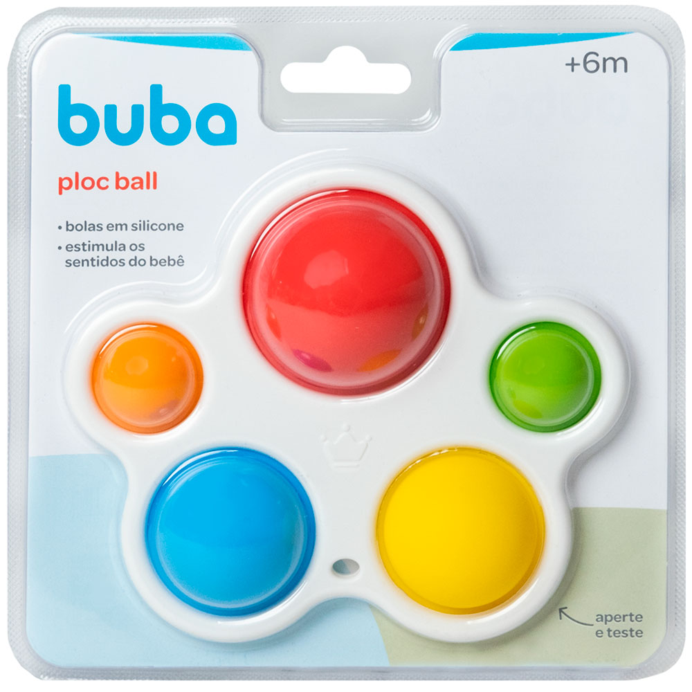 Ploc Ball Bolas em Silicone Pop It Bebê 6m+ - Buba
