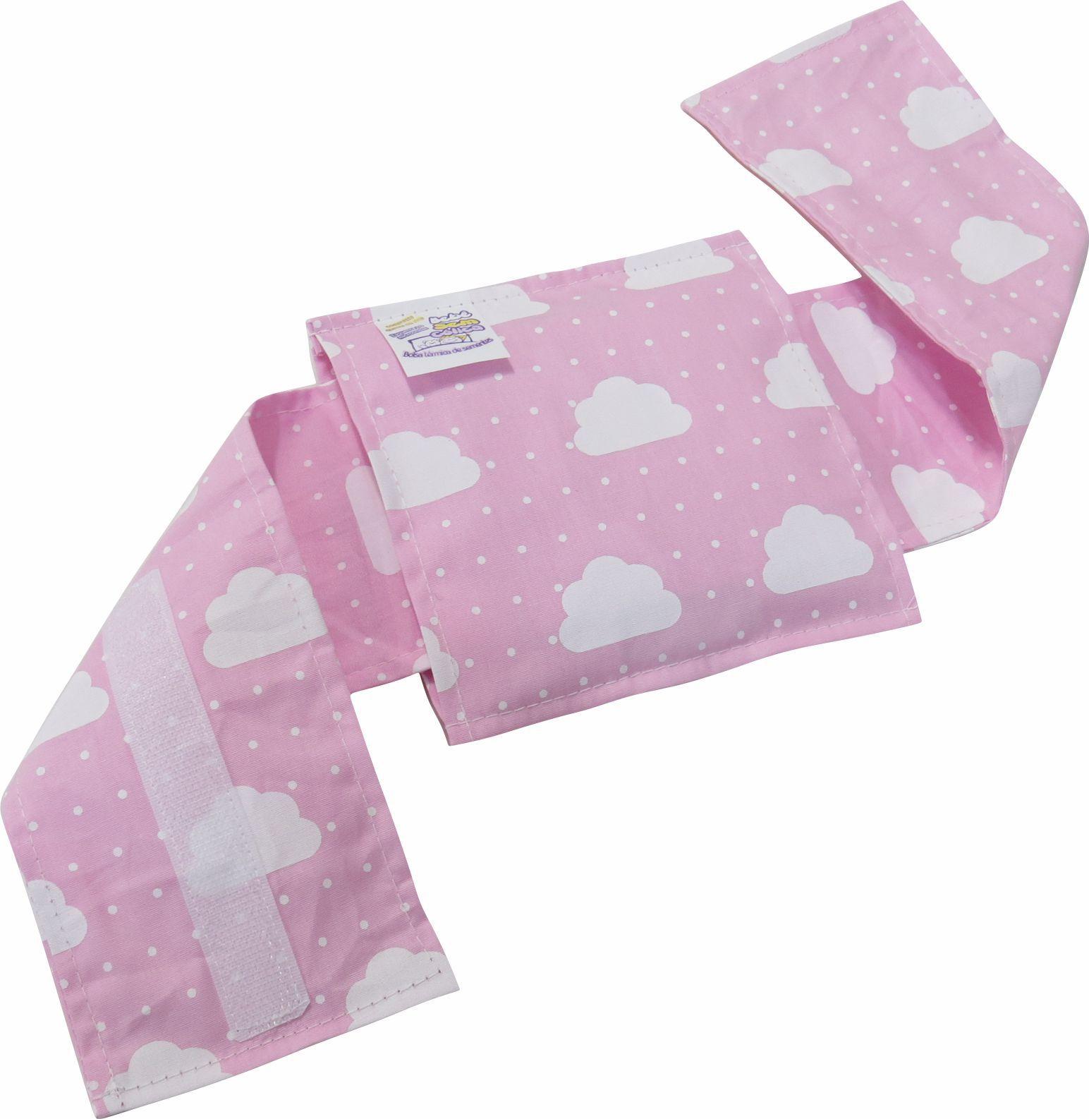 Bolsa Térmica Sementes c/cinta Nuvem Rosa - Bebê sem Cólica