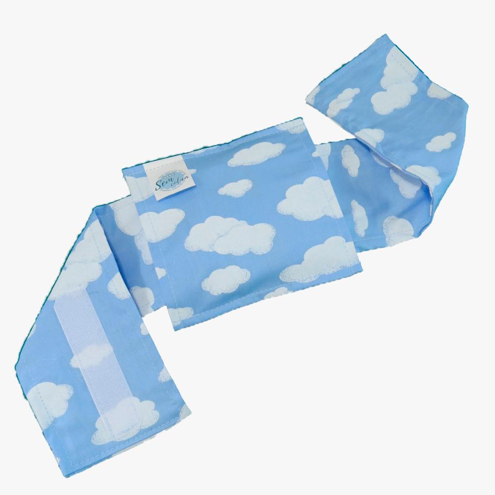 Bolsa Térmica de Sementes Naturais com cinta Nuvem Céu Azul - Bebê sem Cólica