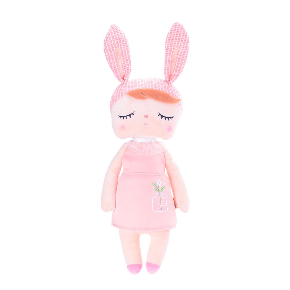 Boneca Angela Jardineira Rosa 33cm - Metoo