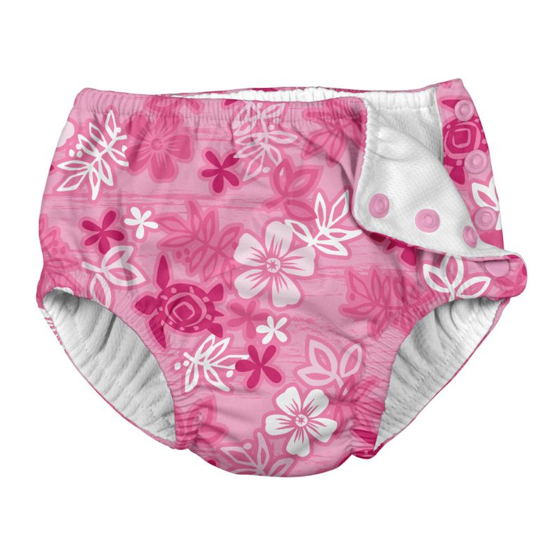 Calcinha Banho c/Fralda Embutida Havai Pink - iPlay Tamanho 3T