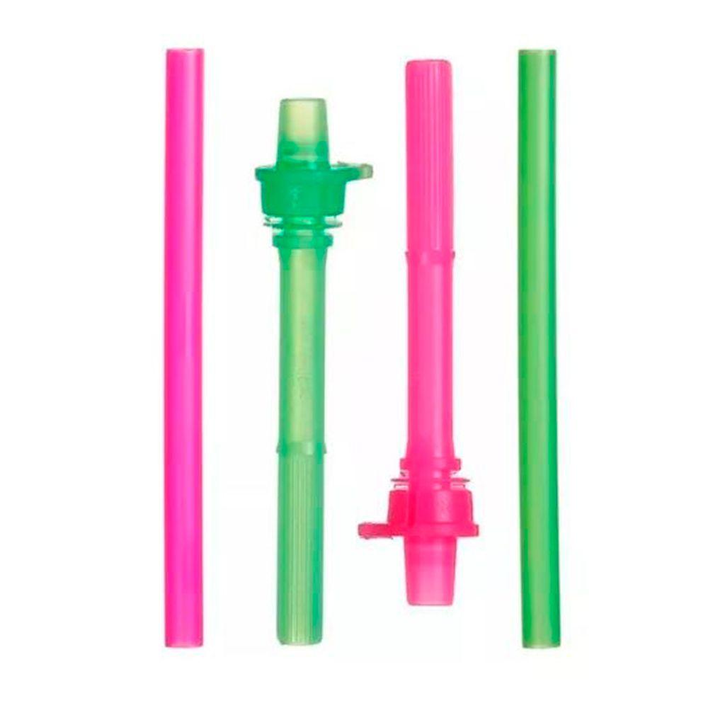 Canudos (Reposição) Click Lock c/ 02 unid. Rosa/Verde - Munchkin