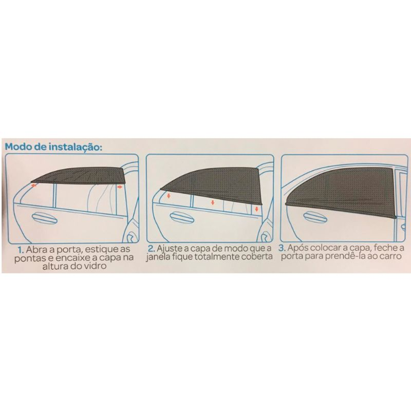Capa Protetora Solar para Janela Traseira do Carro - Buba