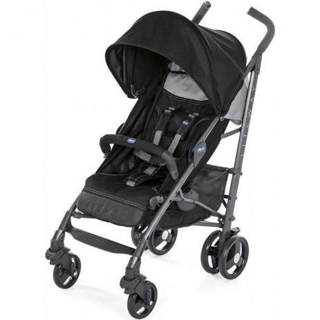 Carrinho de bebe Lite Way 3 Basic - Jet Black - Chicco