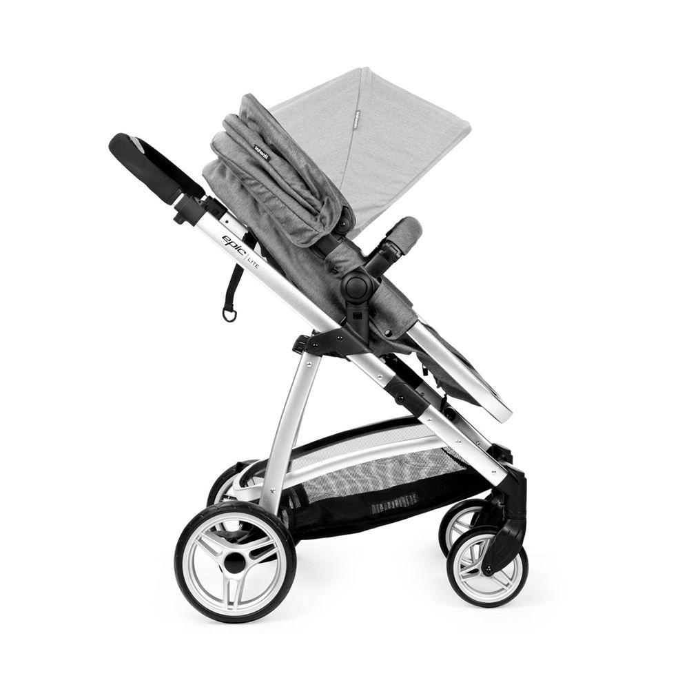 Carrinho Travel System Epic Lite Trio Grey Classic - Infanti