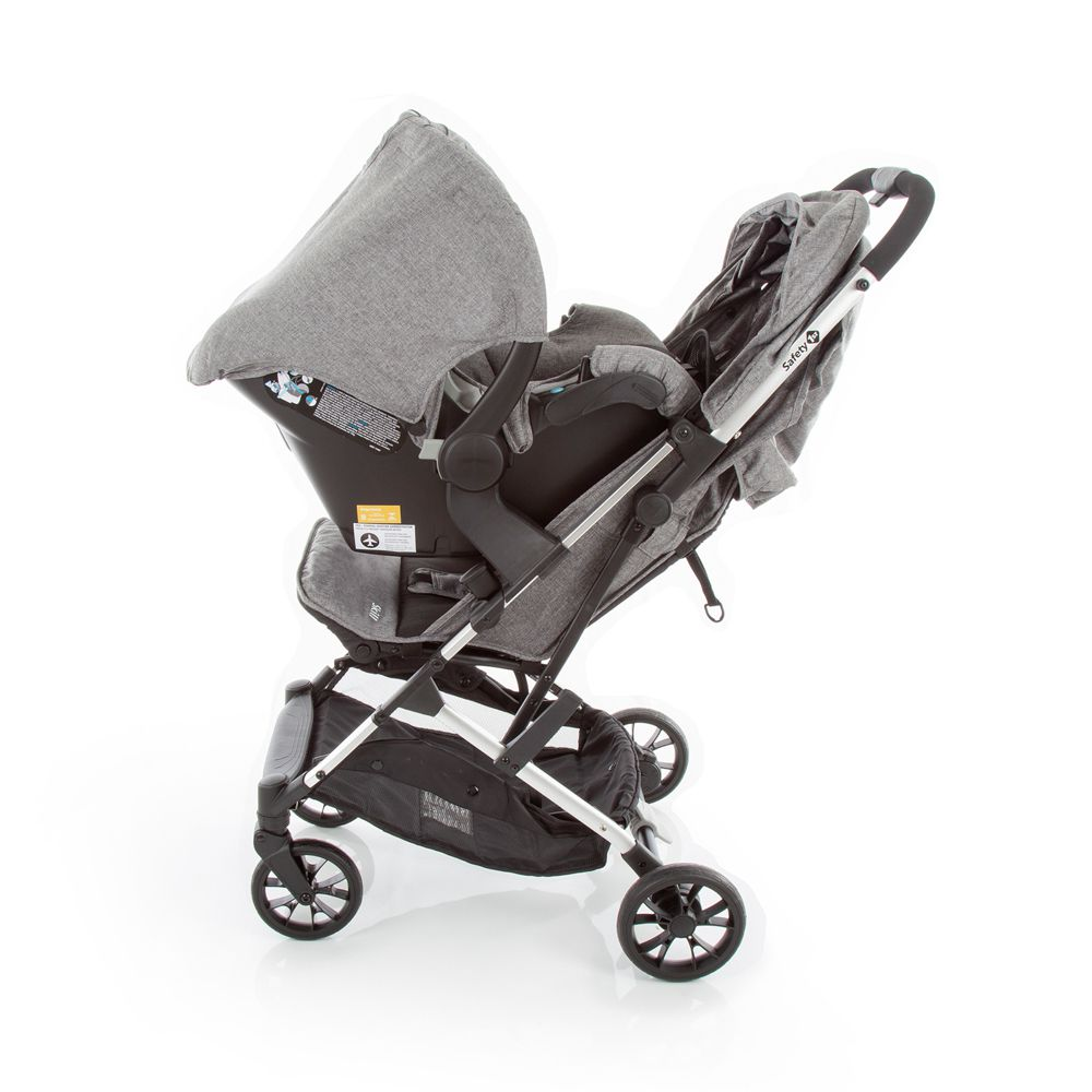 Carrinho Travel System Skill Trio Grey Denin - Safety 1st