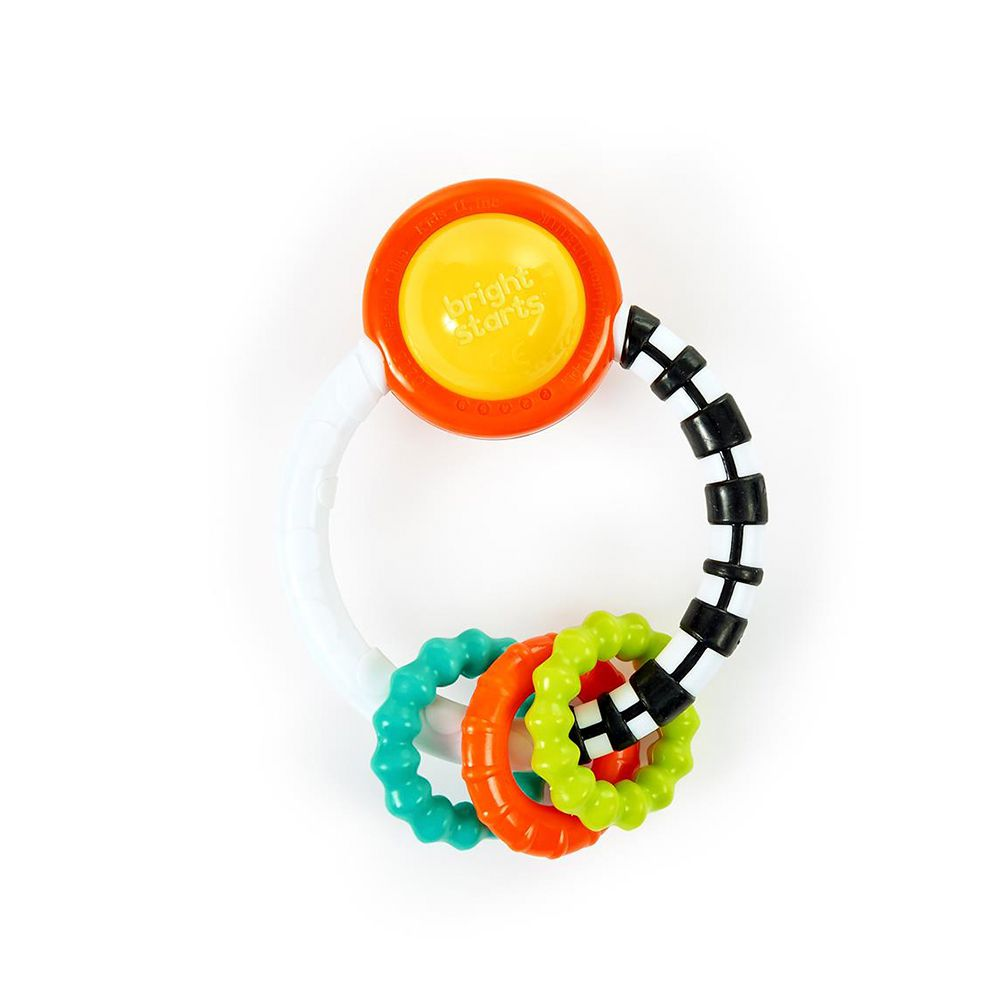 Chocalho Mordedor Rattle a Round Teething Toy - Bright Starts