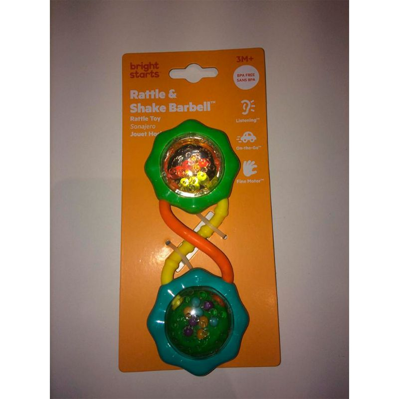 Chocalho Rattle e Shake Barbell Green - Bright Starts