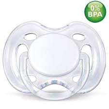 Chupeta BPA Free 0-6m Double Pack Branca/Azul (SCF178/23) - Avent