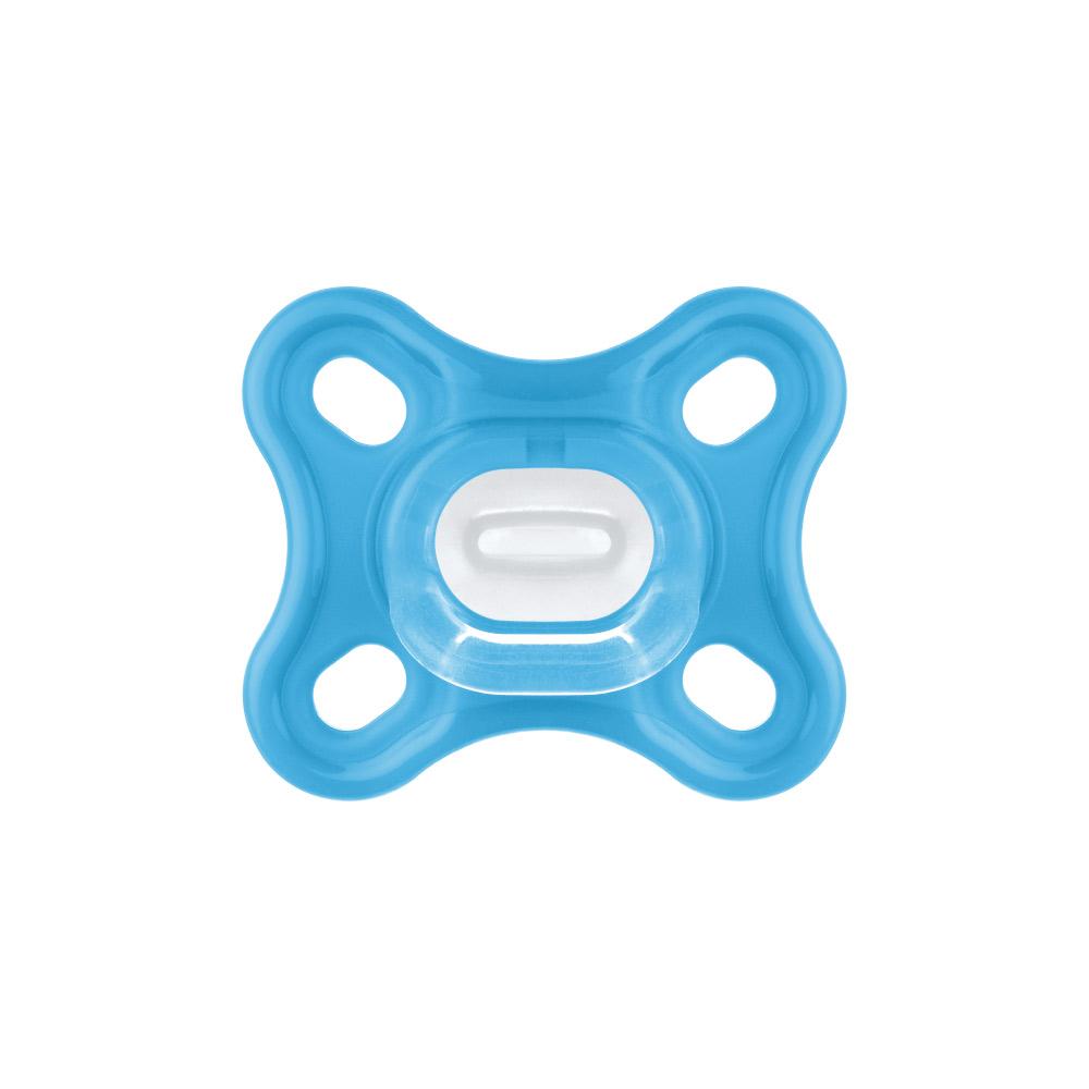 Chupeta Comfort 100% Silicone 0-2m Azul (2 unidades) - MAM