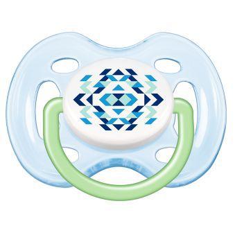 Chupeta Contemporânea BPA Free 0-6 meses 2 un. Verde (SCF180/23) - Avent