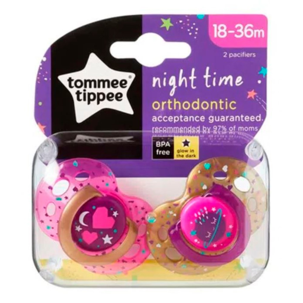 Chupeta Night Time 18-36m (2 unidades) - Tommee Tippee