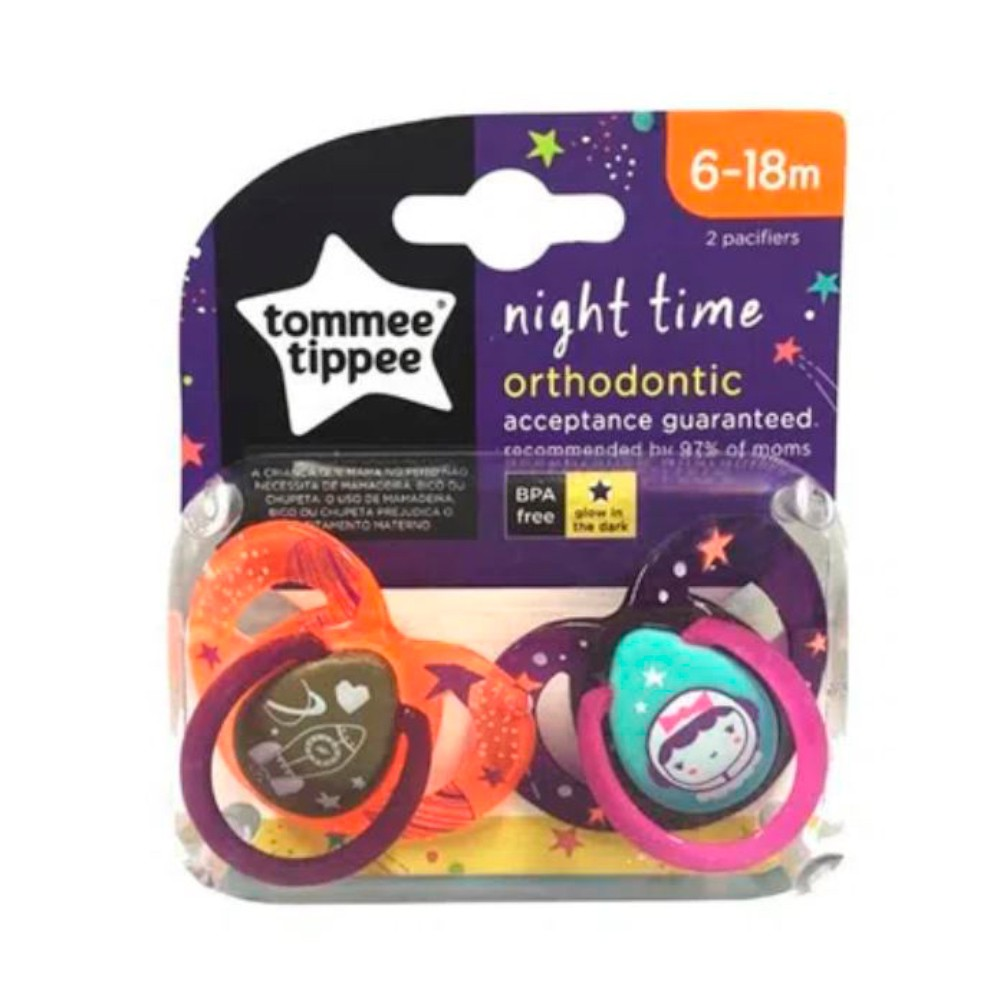 Chupeta Night Time 6-18m (2 unidades) - Tommee Tippee