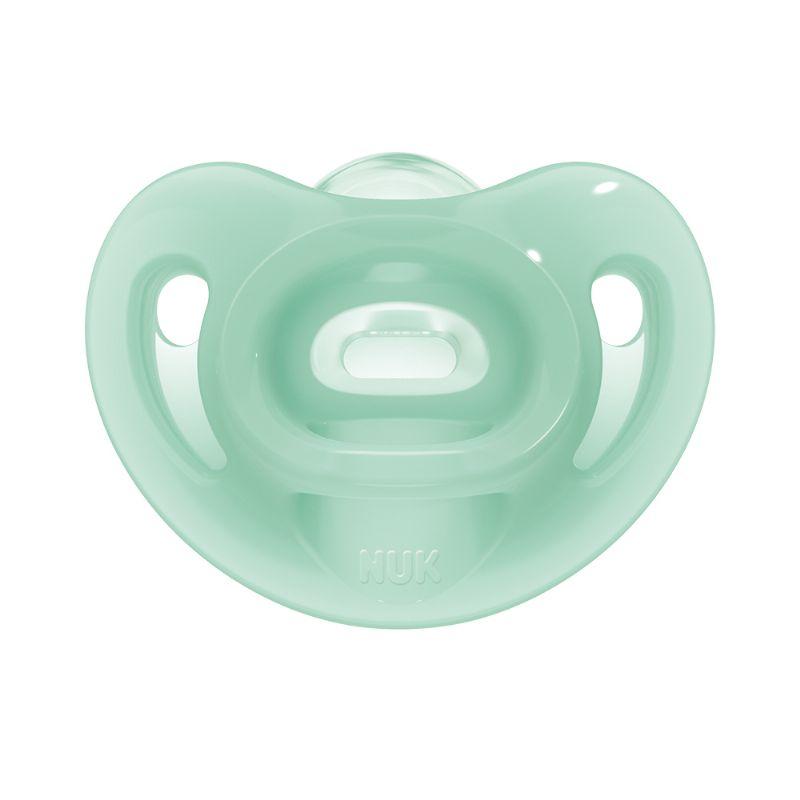 Chupeta Sensitive Soft 100% Silicone Boy S2 6m+ (2 unidades) - NUK
