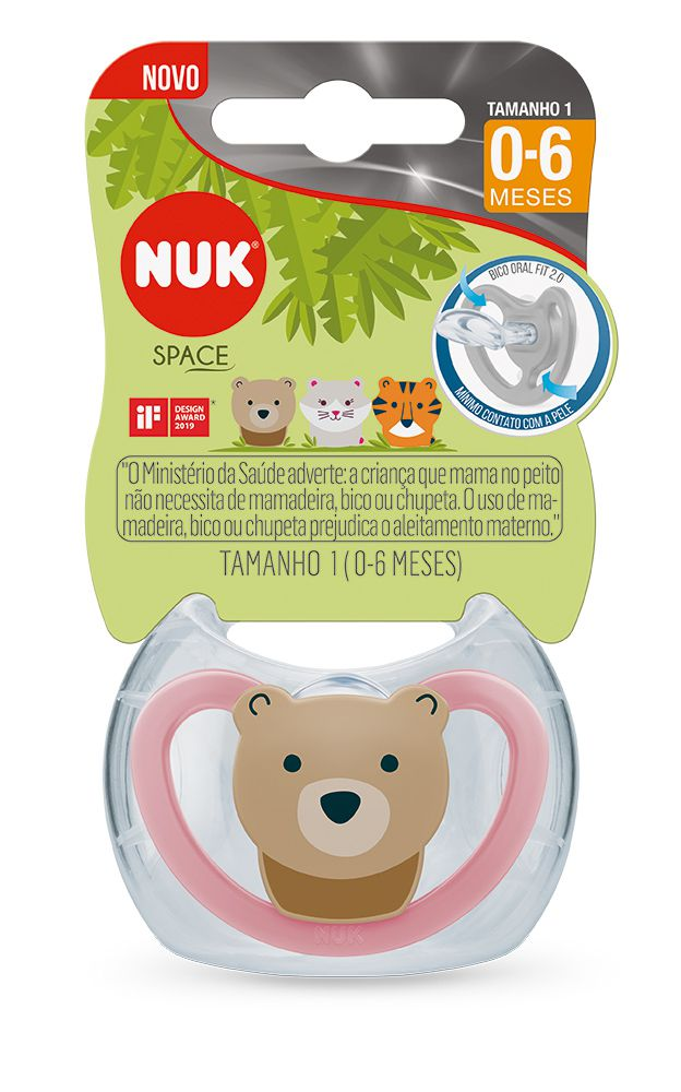 Chupeta Space Silicone 0-6m Girl - NUK