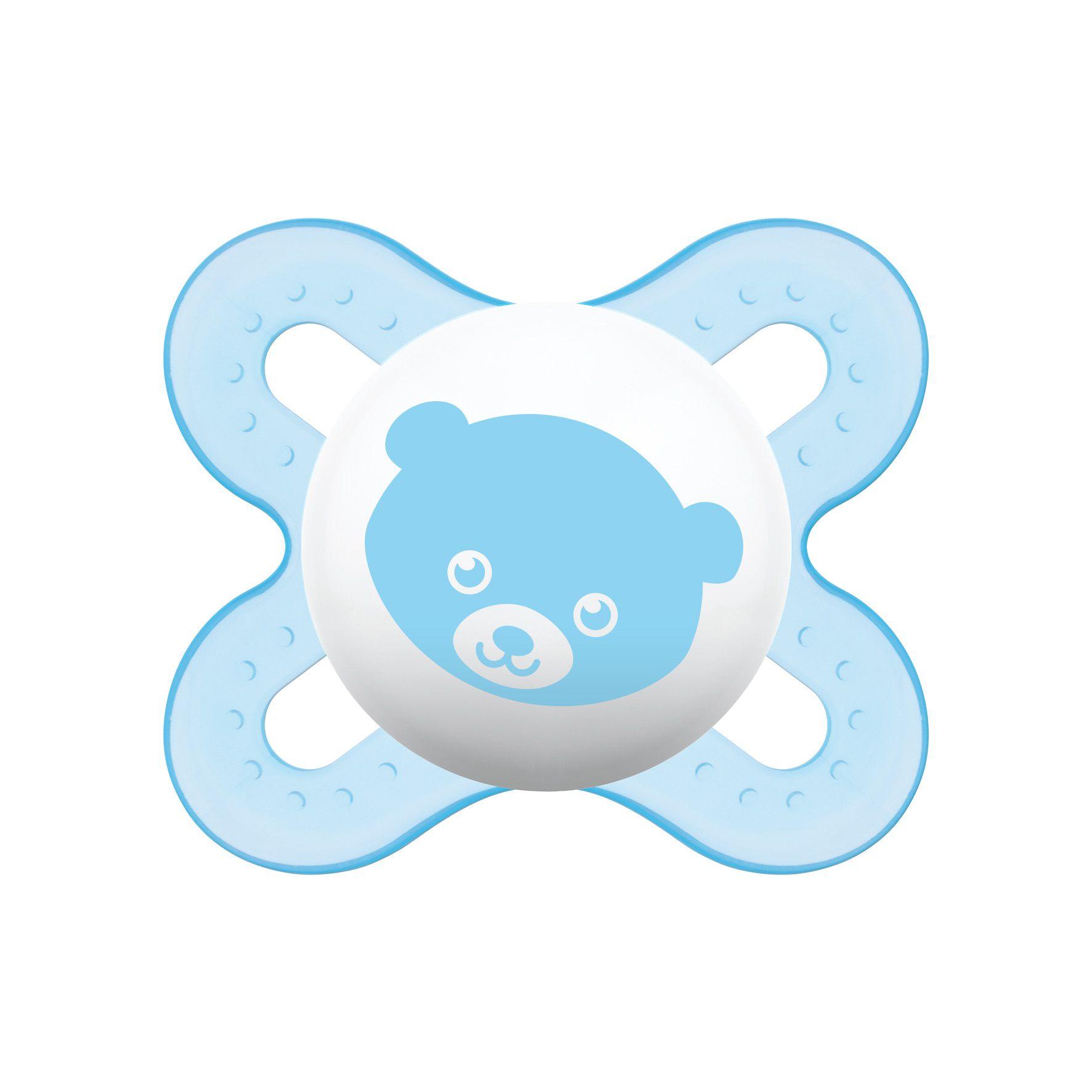 Chupeta Start Silk Touch 0-2 Meses Azul - MAM
