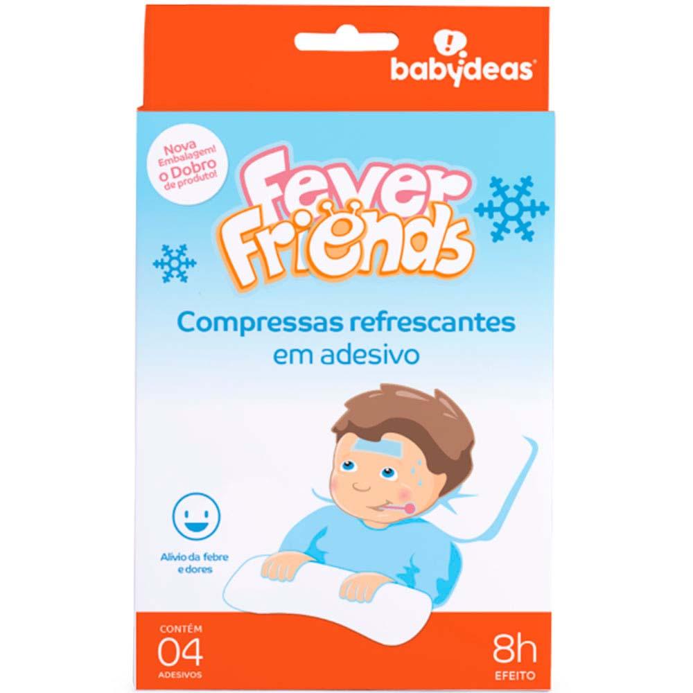 Compressa Refrescante em Adesivo 4 unidades Fever Friends - Babydeas