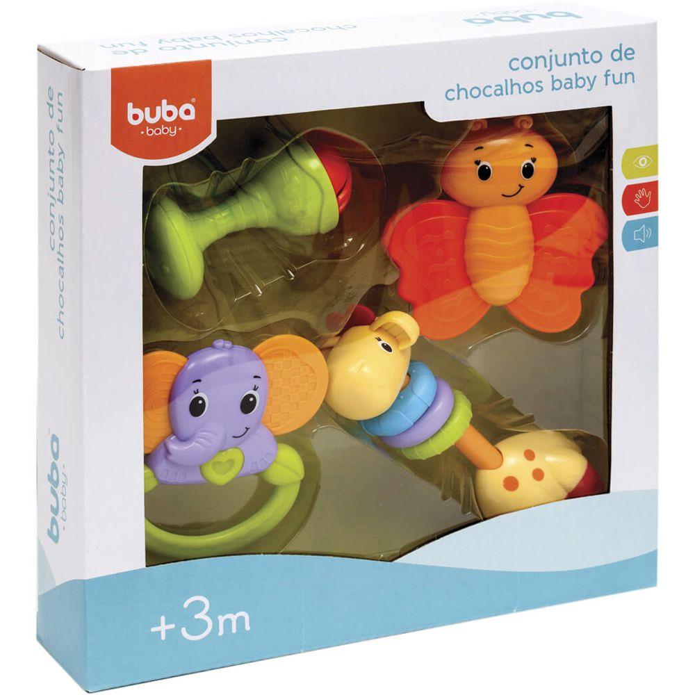 Conjunto Chocalhos Baby Fun - Buba
