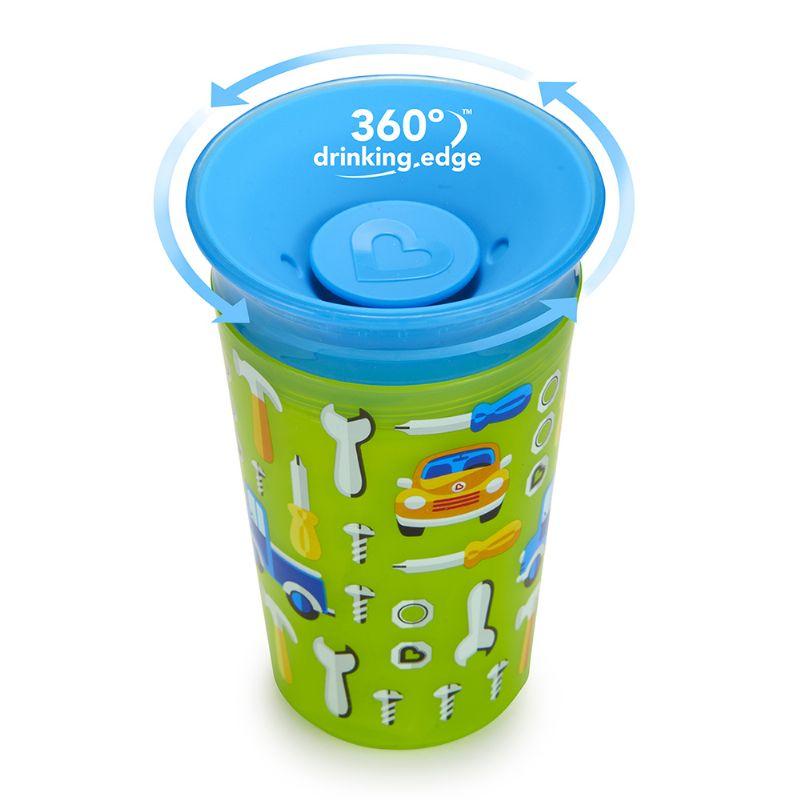 Copo 360 Grande Deco Verde/Azul Carrinho - Munchkin
