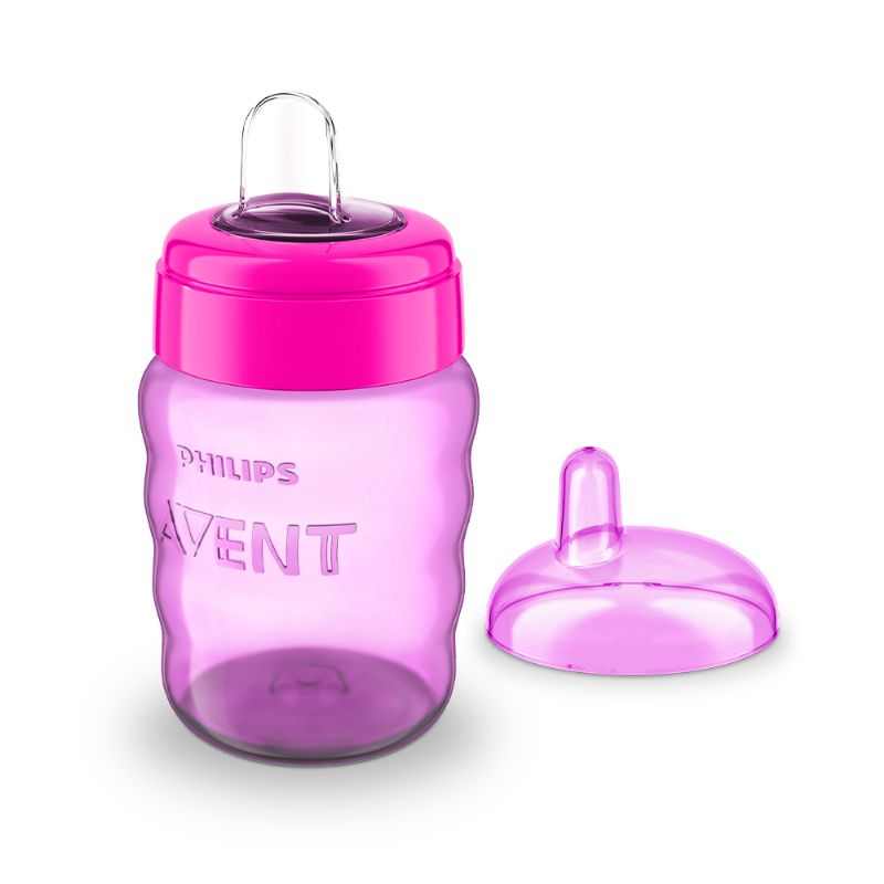 Copo Easy Sip Cup Bico Silicone Rosa 260ml (SCF553/03) - Philips Avent