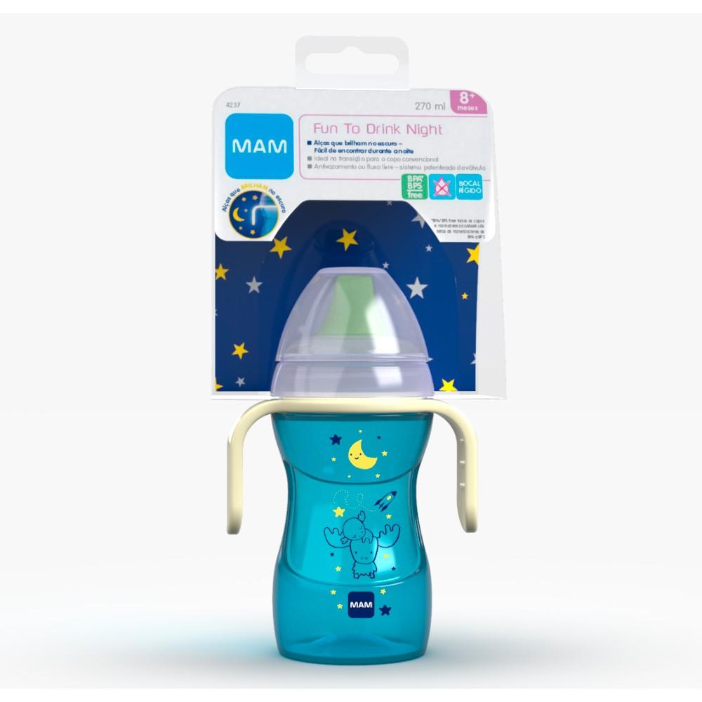 Copo Fun to Drink Night Azul 270 ml  - MAM
