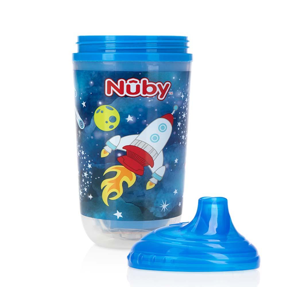 Copo Pisca Pisca Bico Rígido Anti Vazamento 6m+ Azul - Nuby