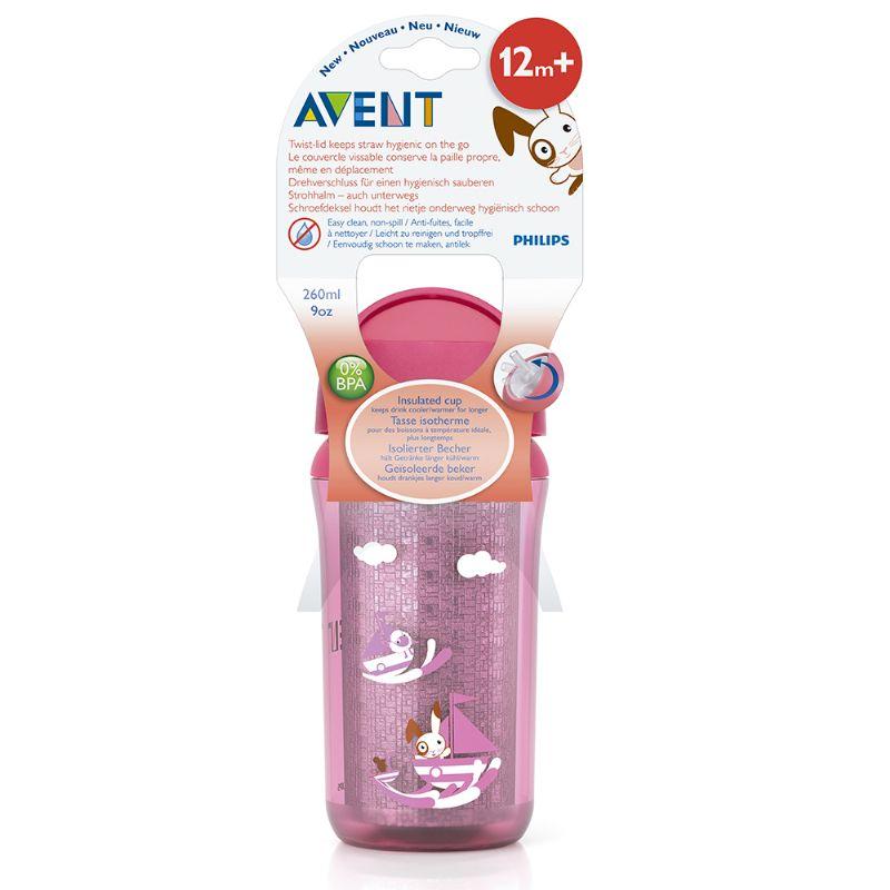 Copo Insulado 260ml Rosa (SCF766/00) - Avent