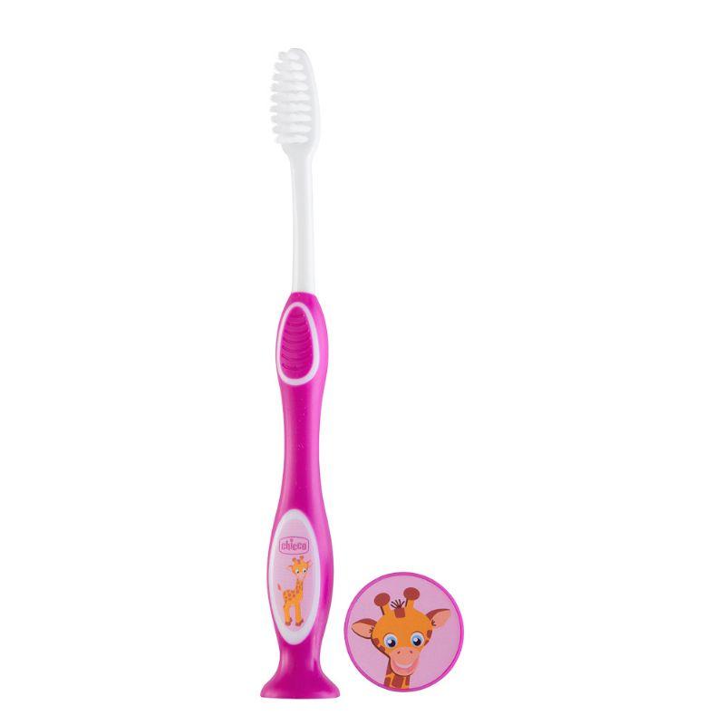 Escova de Dentes 3-6 anos Rosa - Chicco