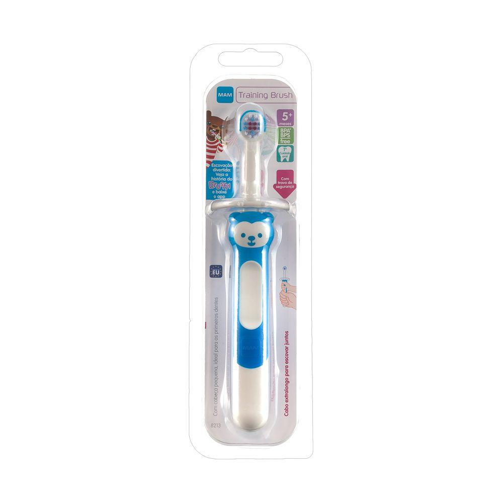 Escova Dental Training Brush Azul 5m+ - MAM