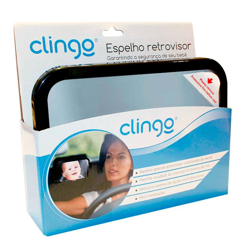 Espelho Retrovisor Multidirecional Retangular Square para Auto - Clingo
