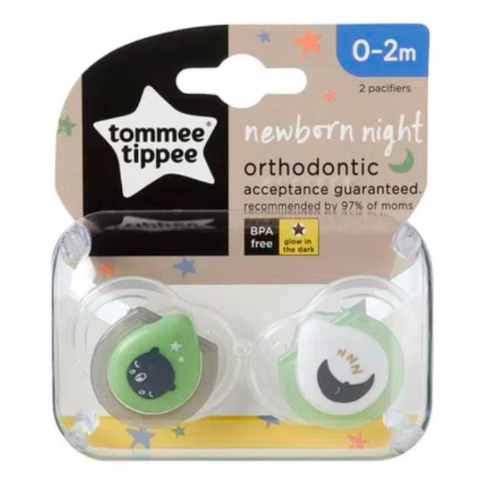 Kit 2 Chupetas 0-2 meses com 2 Prendedores (L/V) Tommee Tippee