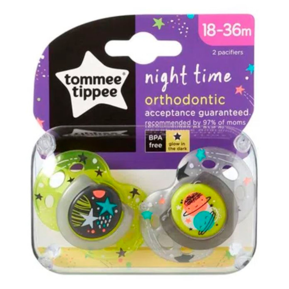 Kit 2 Chupetas 18-36 meses cinza e 2 prendedores (L/C) Tommee Tippee