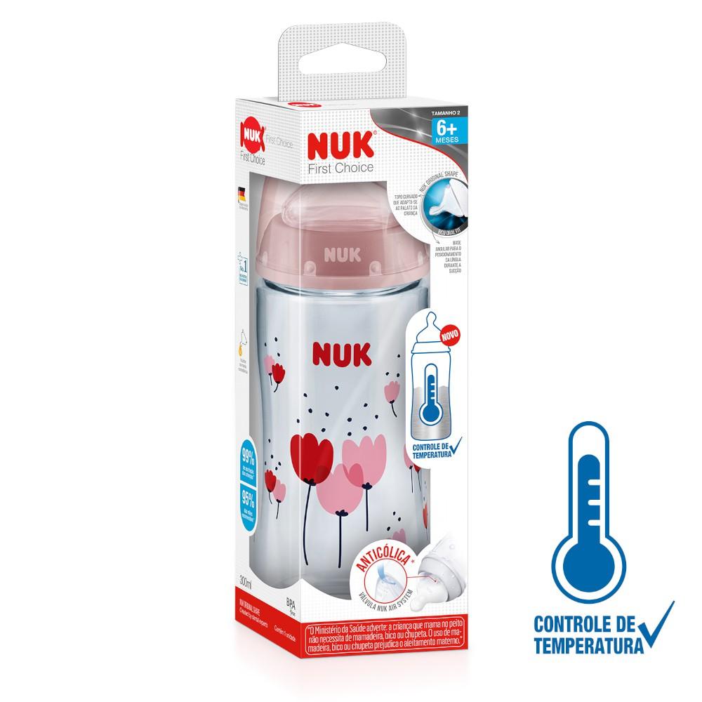 Kit 2 Mamadeira First Choice com Controle de Temperatura NUK