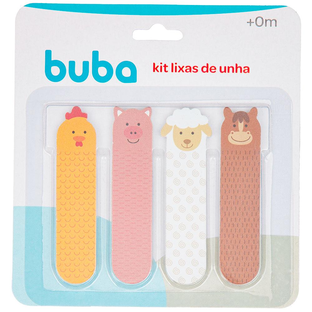 Kit 4 Lixas de Unha em EVA para Bebês Fazendinha - Buba