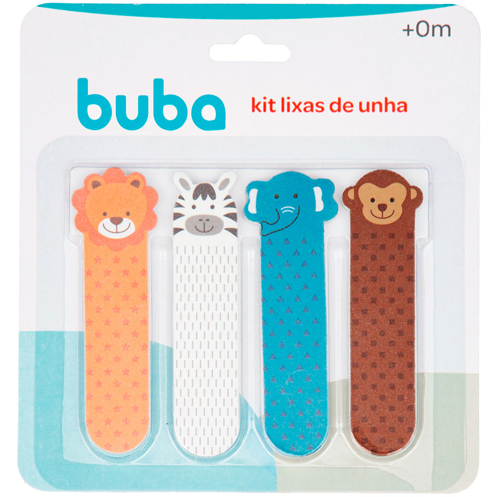 Kit 4 Lixas de Unha em EVA para Bebês Selva - Buba