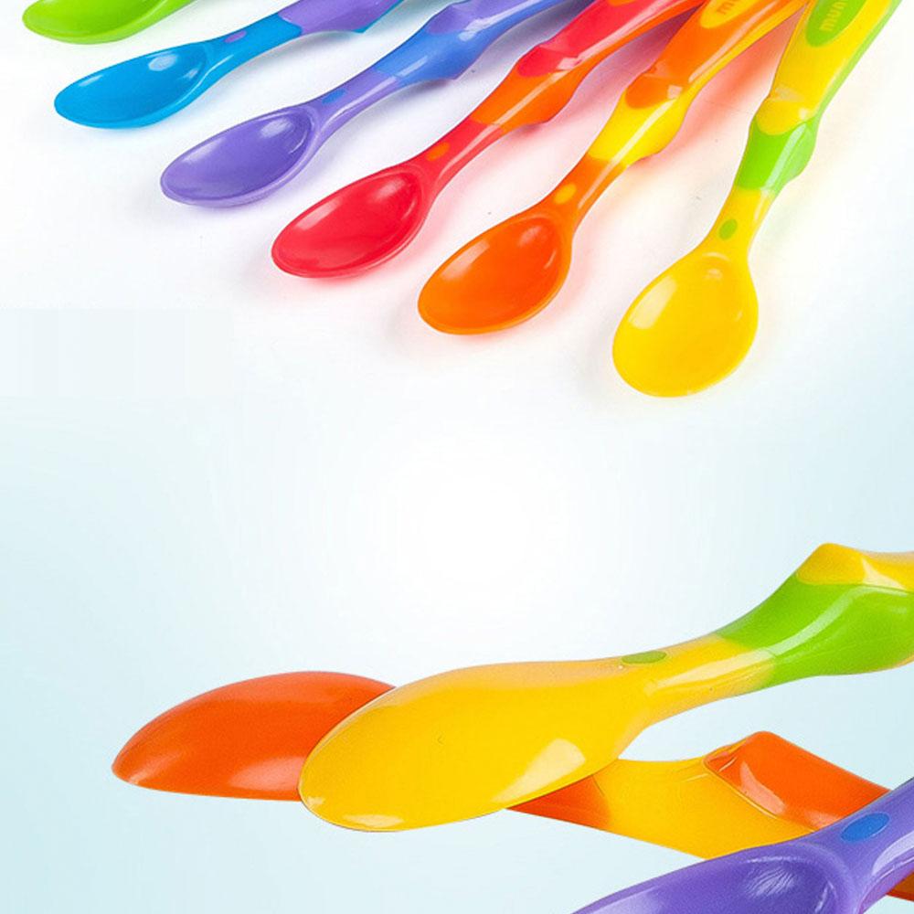 Kit 6 Colheres Coloridas Introdução Alimentar - Nuby
