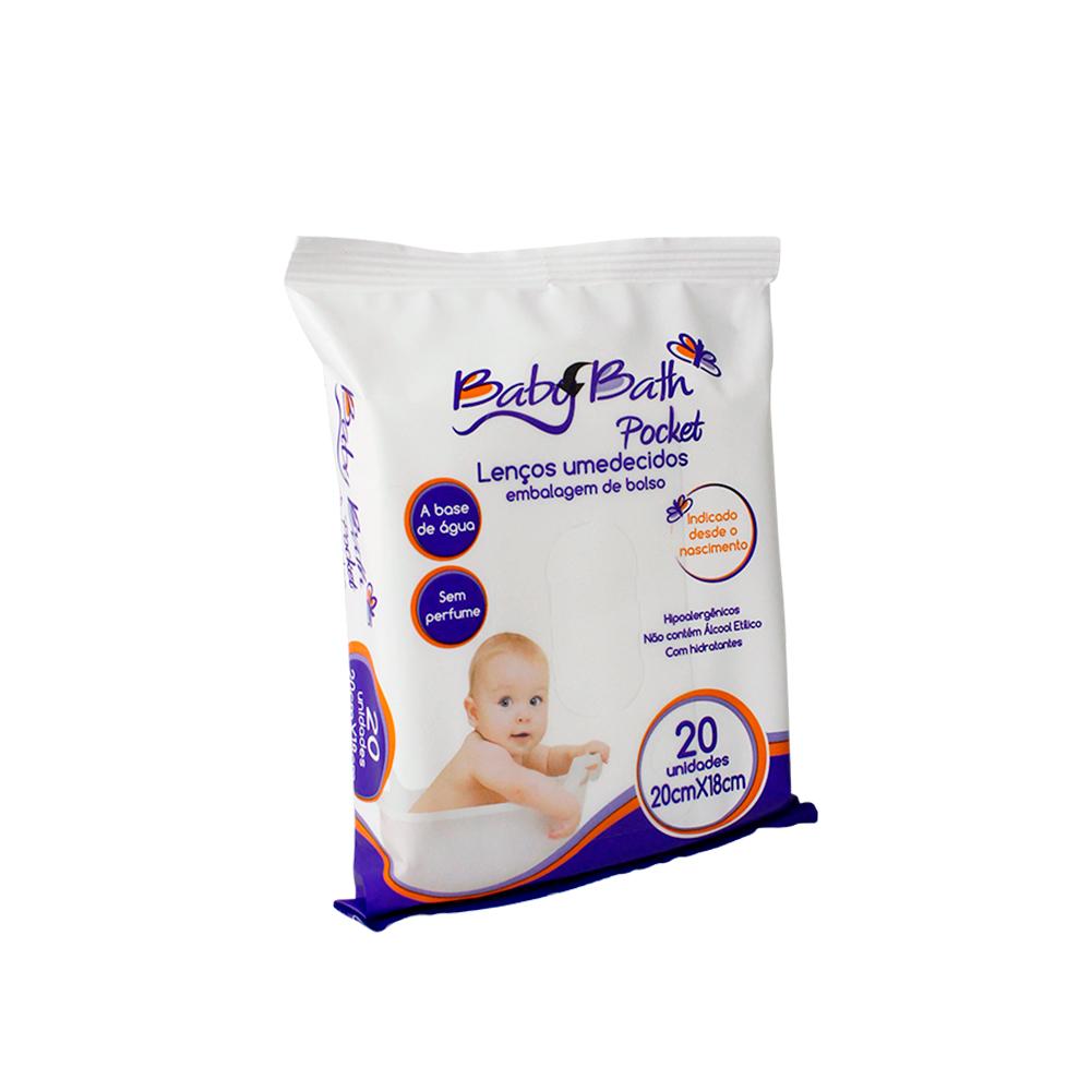 Kit 6 Lenços Umedecidos Pocket de Bolso Baby Bath