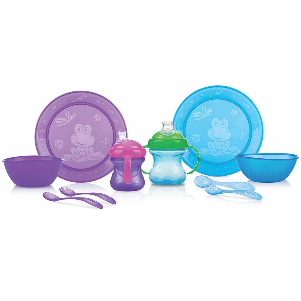Kit Alimentação Introdução Alimentar 6m+ 5 Peças Azul - Nuby
