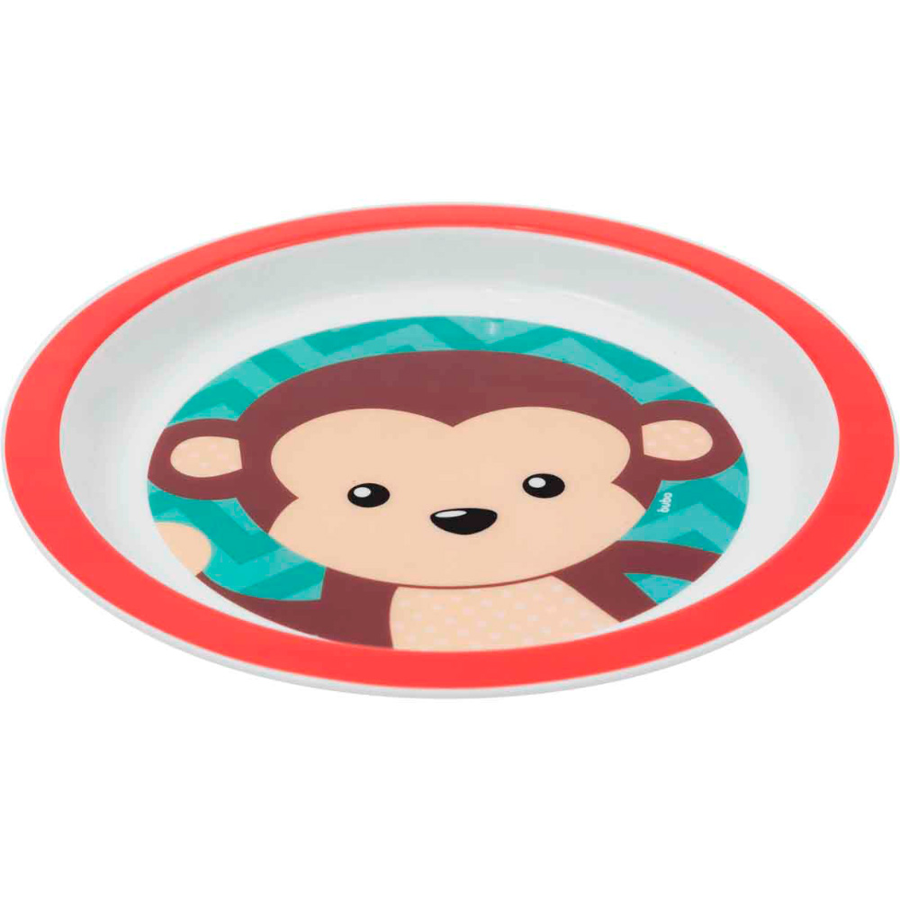 Kit Alimentação Prato e Tigela (2 unid) Buba Macaco Menino