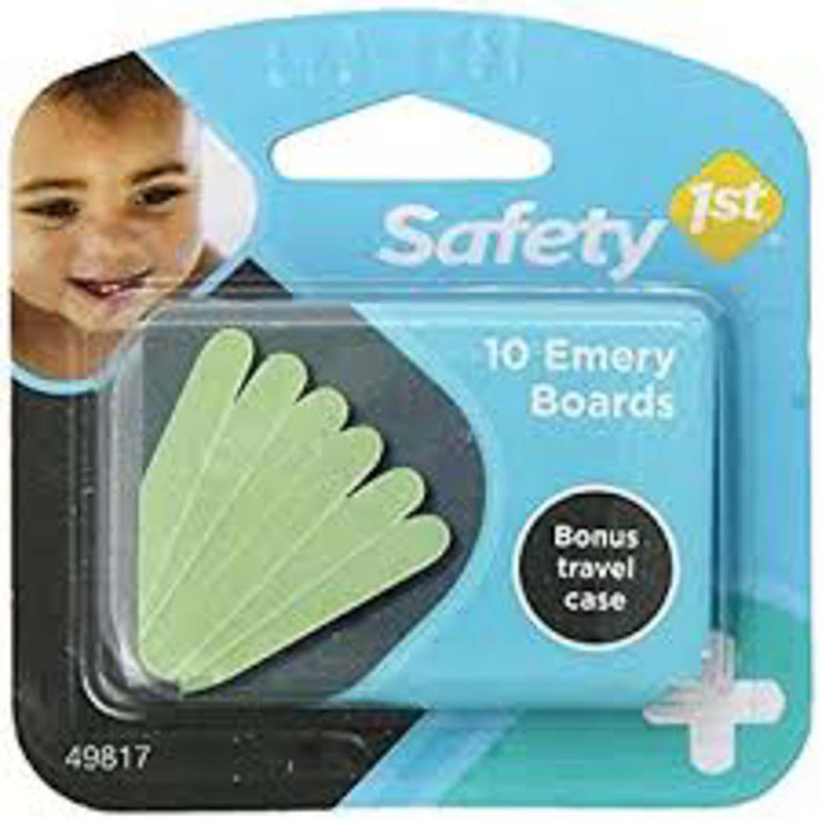 Kit com 10 lixas de unhas - Safety 1st