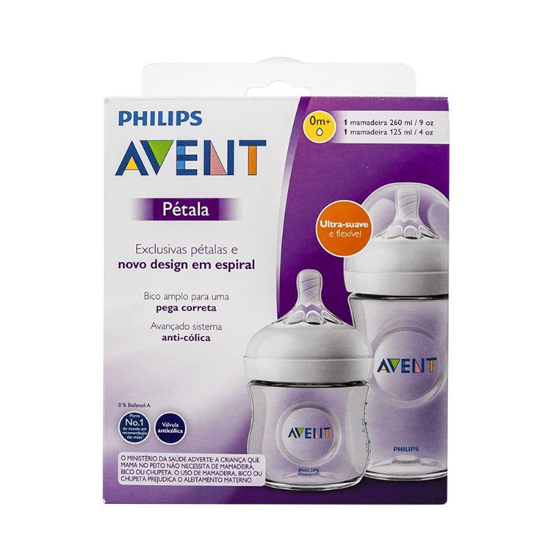 Kit Mamadeiras Pétala 125ml e 260ml (SCD101/01) - Philips Avent