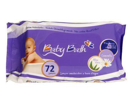 Lenços Umedecidos a Base de Água 72 unidades - Baby Bath