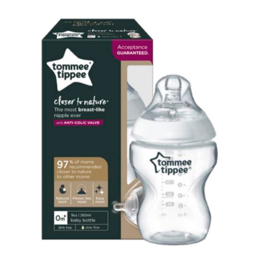 Mamadeira Closer to Nature 260ml Neutra - Tommee Tippee