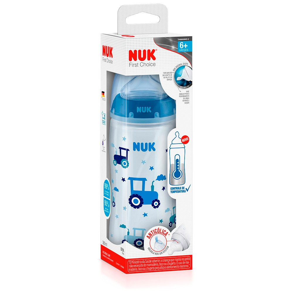 Mamadeira FC Temp. Control 300ml S2 Boy - NUK