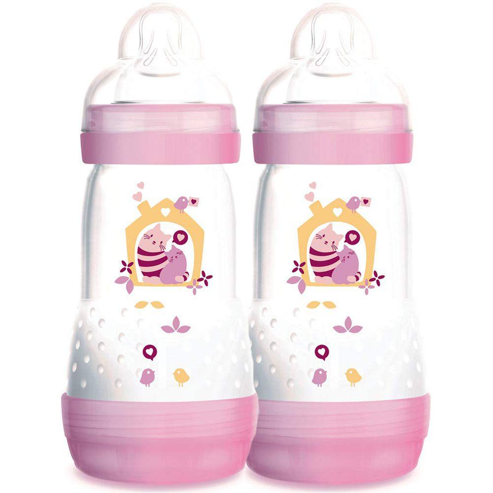Mamadeira First Bottle 260ml Girls 2 unid. - MAM
