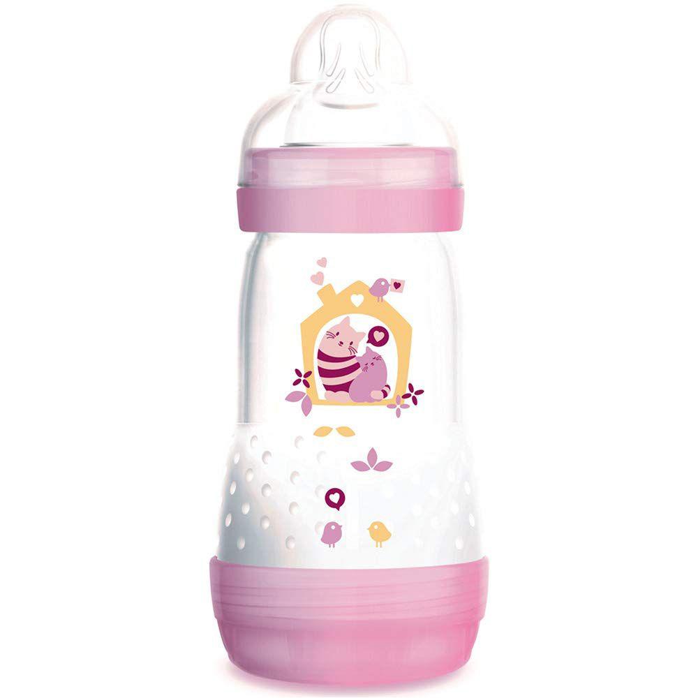 Mamadeira First Bottle 260ml Rosa - MAM