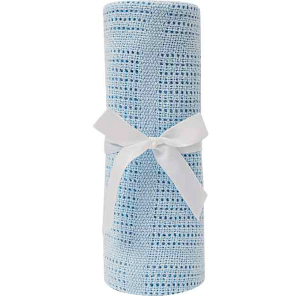 Mantinha Trico Baby Azul - Buba